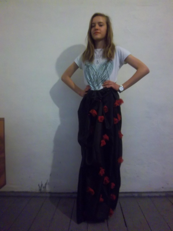 Różana spódnica