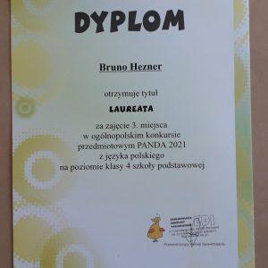 Dyplom za zajęcia III miejsca